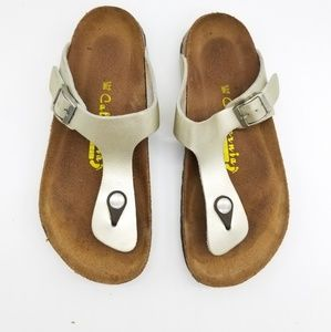 California Vintage Gold Sandals